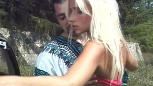 Outdoor sex where she is bending and fucked in her nice anal
