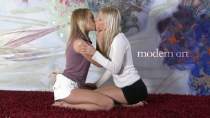 Arousing twat licking delights with alluring Bridget and Blue