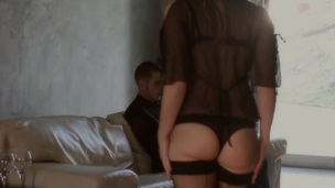 Chubby sweetie goes mad from rear fuck and hawt pinches