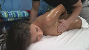 Sexy 18 year old hotty receives fucked hard by her massage therapist!