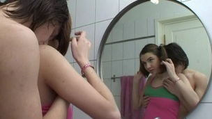 Legal Age Teenager whore opens her face hole widely to welcome a thick rod