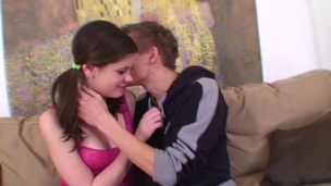 Hawt Legal Age Teenager Couple Fucked Behind The Camera