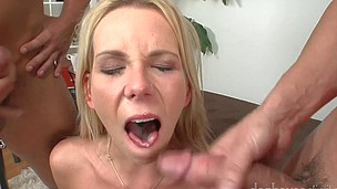 These amazing cumshots are all compiled in this hot bi scene