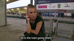 Nessy was just awaiting for her train.  That Babe really didn't like me questioning her beside her intimate life. I don't think that babe smiled one time....well not until that babe saw the size of my dick!