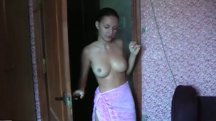When it is cold outdoor there is a great risk for me and my GF to get the cold cuz we record those couple sex episodes so this day when I woke my sexy girlfriend up and got some fine amateur engulfing dick from her we one as well as the other decided to spend the day in the sauna. What can be hotter than a steam room? Solely our burning sexy bodies. Especially when my wicked GF entertains taking my biggest amateur dick in her face hole and then bows over giving me that beautiful amateur cunt for receiving strong orgasm!