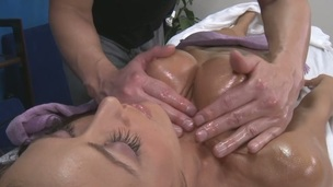 Sexy 18 year old gets drilled hard by her massage therapist