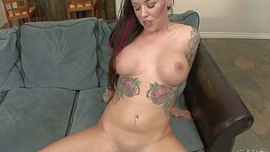 Breasty Emily Parker has her tattooed body fucked POV style