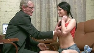 Horny older teacher copulates wicked sweetheart senseless