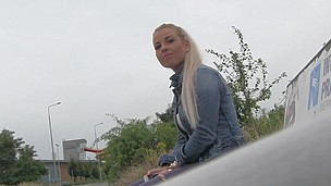 So I spot a hot golden-haired angel at the bus stop. This Playgirl didn't realise that the bus that babe was expecting for was going to be some other 45 minute.  I offered her a lift home in my car.  On the way to her abode I offered her a fake job, but that babe must prove how importantly this babe really wanted the job.