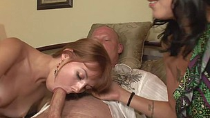 Delilah get shown by her step fathers how to suck meat shaft