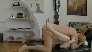 Diana's Legs Are Wide Opened For Big Rocco To Slip Inside!