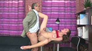 She is masturbating while the bitch is hardcore sucking the schlong