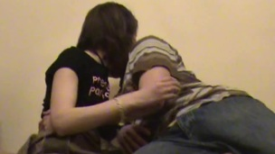 Stud chokes his bawdy whore, during the time that hammering her in the room