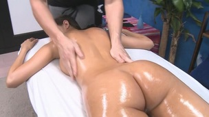 Gorgeous 18 year old gets fucked hard by her massage therapist