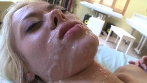 Breasty playgirl gets her hawt cookie drilled zealously by stud