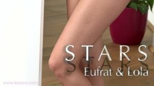 Delightful lesbian training with strikingly beautiful Lola and Eufrat