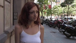 Sexy nice-looking gal gets mind fucked and slavery sex.
