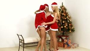 Ardent & sexually lewd lesbo chicks fondle each other well