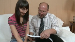 Sinless darling is tempted by an old and horny teacher