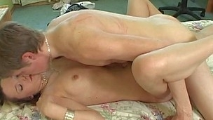Honey is riding on stud's 10-Pounder after explicit doggystyle drilling