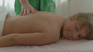 Nasty blond enjoys her massage even the fondling