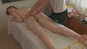 Pretty darling gives awesome oral engulfing after massage