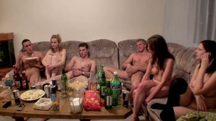 Check out this fantastic fuckfest sex porn video with horny students banging every other at college party