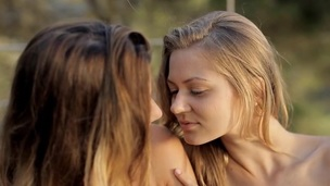 Honey is moaning wildly from girlfriend's explicit fingering