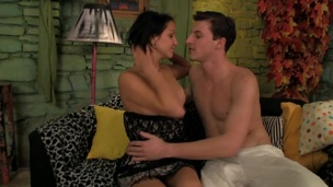 Seductive darksome brown likes filthy sex games with her fuckmate