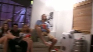 Cute blond spreads her legs wide for lusty twat licking