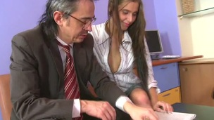 Horny teacher is pounding enjoyable chick senseless