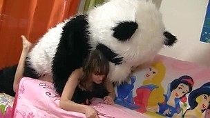 Tonight this cute brunette hair is a wonderful fairy, and this babe can make any desire see eye to eye suit true. So why not make her own desire see eye to eye suit true, then? And the frisky chick turned her diminutive teddy bear into a big fluffy panda. Having him around was so fun! They danced and laughed and lastly even had thong on sex! And why the hell not, fairies can be horny strumpets too, and they want to have sex with toys! Moreover, the panda bear had a truly irresistible dong 10-Pounder. Have A Fun this fantastic teenporn movie scene full of risqu? sex and fun.